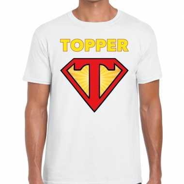 Wit t shirt super topper heren