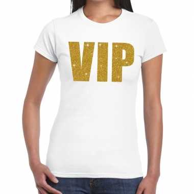 Wit vip goud fun t shirt dames