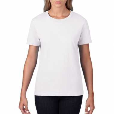 Witte dames casual t shirts ronde hals