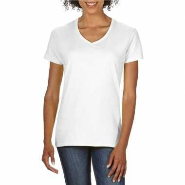 Witte dames casual t shirts v hals