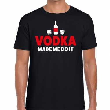 Wodka shirt vodka made me do it zwart heren