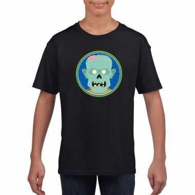 Zombie halloween t shirt zwart jongens meisjes