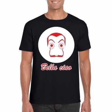 Zwart bankovervaller t-shirt heren