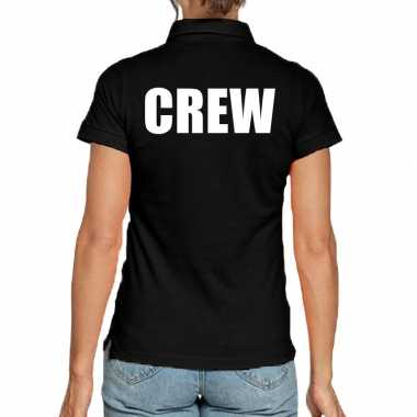 Zwart crew polo t shirt dames