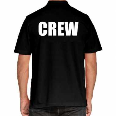 Zwart crew polo t shirt heren