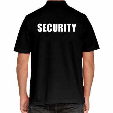 Zwart security polo t shirt grote maten heren