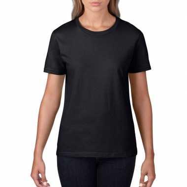 Zwarte dames casual t shirts ronde hals
