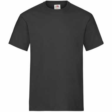 Zwarte t shirts ronde hals 195 gr heren