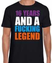 16 year cadeau verjaardag t-shirt zwart heren