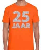 25e verjaardag cadeau shirt oranje zilver heren