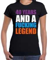 40 year cadeau verjaardag t-shirt zwart dames