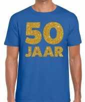 50 jaar fun jubileum t-shirt blauw heren