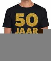50 jaar fun jubileum t-shirt zwart heren