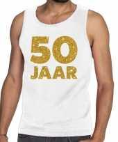 50 jaar fun tanktop mouwloos shirt wit heren