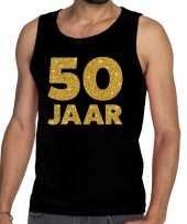 50 jaar fun tanktop mouwloos shirt zwart heren
