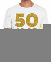 50 jaar jubileum fun t-shirt wit heren