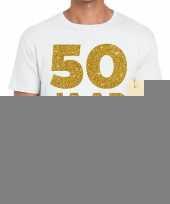 50 jaar jubileum fun t-shirt wit heren