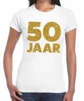 50 jaar verjaardag fun t-shirt wit dames