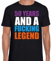 50 year cadeau verjaardag t-shirt zwart heren