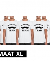 5x vrijgezellenfeest-shirt wit heren maat xl