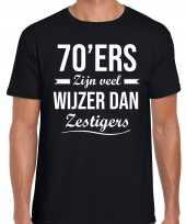 70 jaar verjaardags shirt kleding 70ers zijn veel wijzer dan zestigers zwart heren