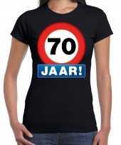 70e verjaardag stopbord shirt kleding 70 jaar zwart dames