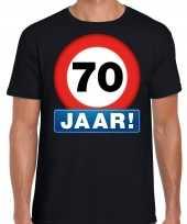 70e verjaardag stopbord shirt kleding 70 jaar zwart heren