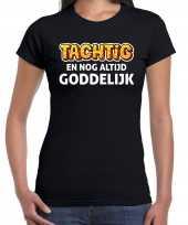 80 jaar verjaardag shirt zwart dames tachtig goddelijk cadeau t-shirt
