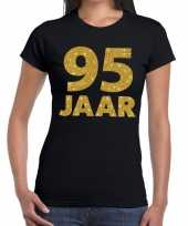 95e verjaardag cadeau t-shirt zwart goud dames