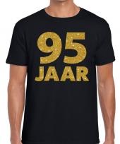 95e verjaardag cadeau t-shirt zwart goud heren