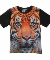 All over print t-shirt tijger kinderen