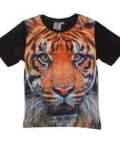 All over print t-shirt tijger kinderen