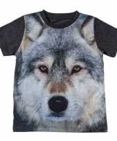 All over print t-shirt wolf kinderen