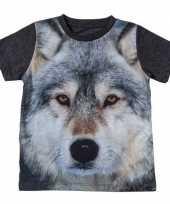 All over print t-shirt wolf kinderen