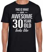 Awesome 30 year verjaardag cadeau t-shirt zwart heren