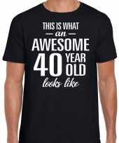 Awesome 40 year verjaardag cadeau t-shirt zwart heren