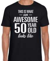 Awesome 50 year verjaardag cadeau t-shirt zwart heren