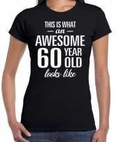 Awesome 60 year verjaardag cadeau t-shirt zwart dames