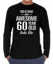 Awesome 60 year verjaardag cadeau t-shirt zwart heren 10195938