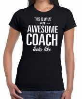 Awesome coach cadeau t-shirt zwart dames coach bedankt cadeau