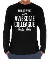 Awesome colleague collega cadeau shirt zwart heren