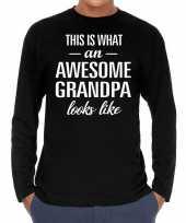 Awesome grandpa opa cadeau shirt zwart heren