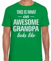 Awesome grandpa opa cadeau t-shirt groen heren