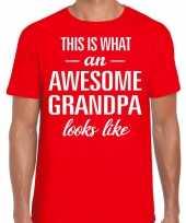 Awesome grandpa opa cadeau t-shirt rood heren