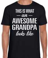 Awesome grandpa opa cadeau t-shirt zwart heren