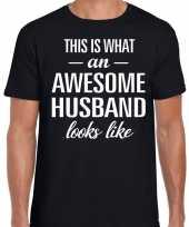 Awesome husband echtgenoot cadeau t-shirt zwart heren