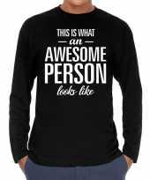 Awesome person persoon cadeau shirt zwart heren