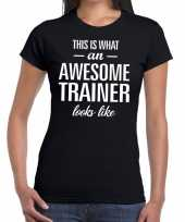 Awesome trainer kado t-shirt zwart dames