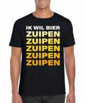 Bier zuipen fun t-shirt zwart heren