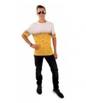 Bierprint t-shirt volwassenen